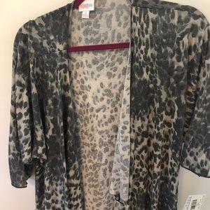 Gray leopard Shirley kimono